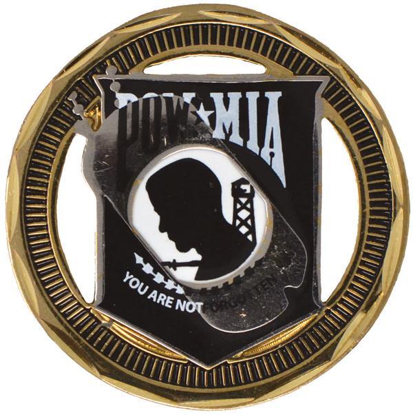 POW MIA Challenge Coin