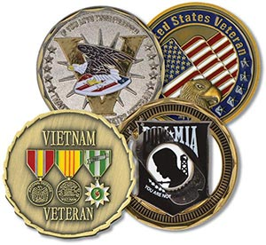 Challenge coin set of 4