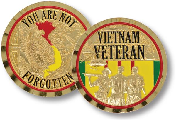 Viet Nam Veteran, Not Forgotten Challenge Coin for sale at