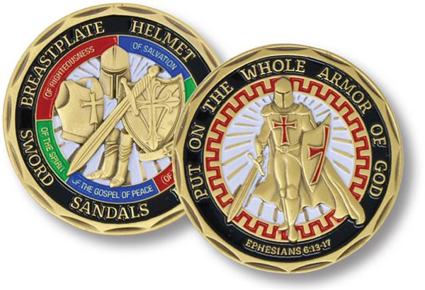 Helmet Of Salvation Put On The Whole Armor Of God Commemorative Coin Collect BH