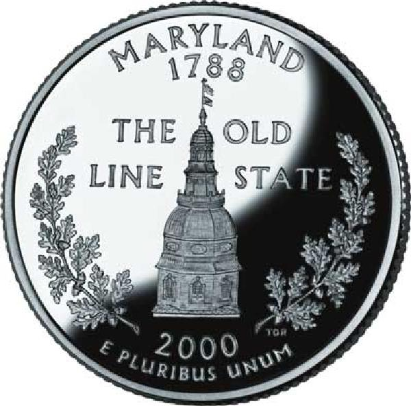 2000 Maryland State Quarter, D Mint