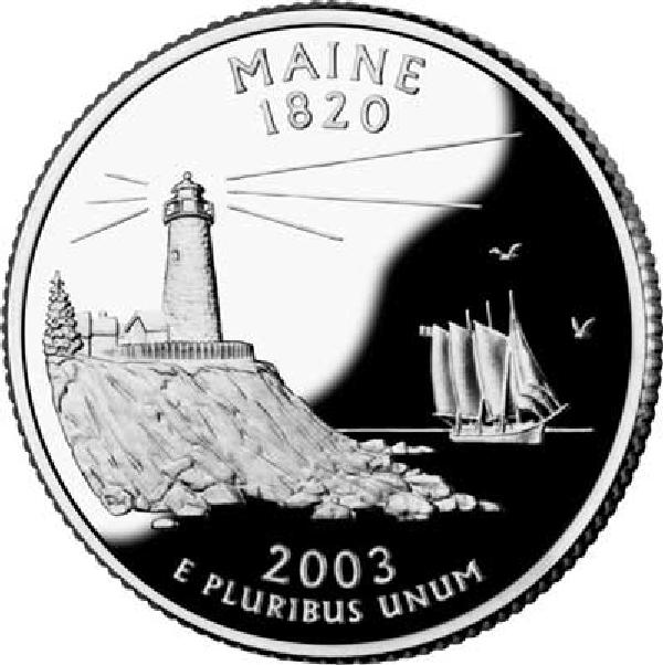 2003 Maine State Quarter, D Mint