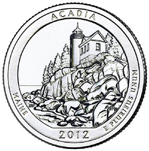 2012 Acadia National Park D Mint
