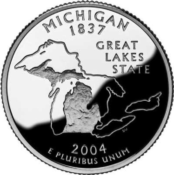 2004 Michigan State Quarter, P Mint
