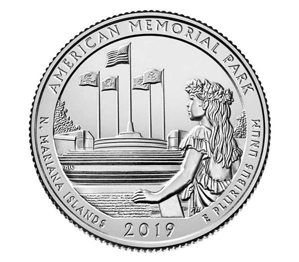2019 American Memorial Park Qtr. D Mint