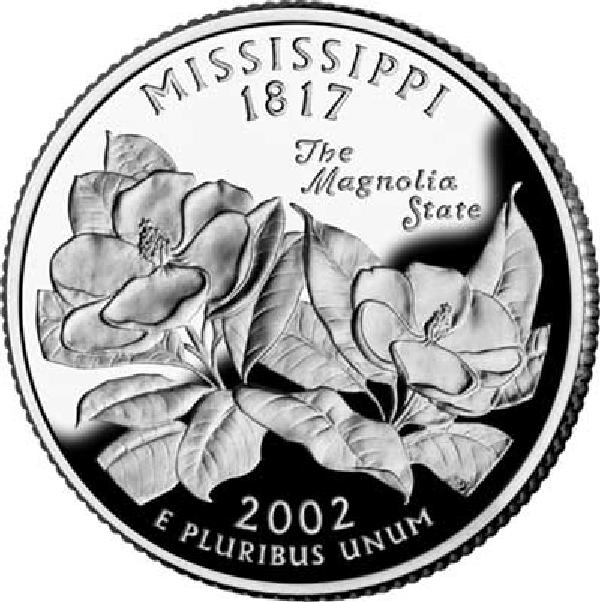 2002 Mississippi State Quarter, P Mint