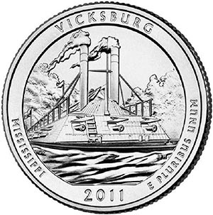 2011 Vicksburg National Military Park D Mint Quarter