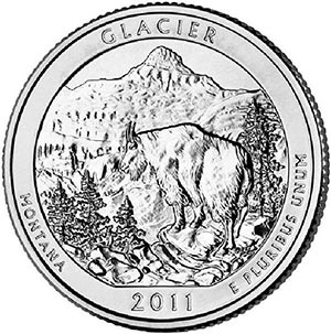 2011 Glacier National Park P Mint Quarter