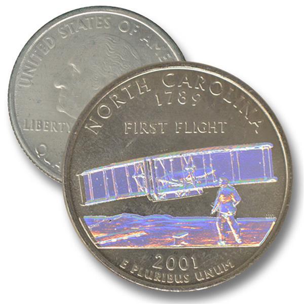 2001 N Carolina State Quarter - Hologram