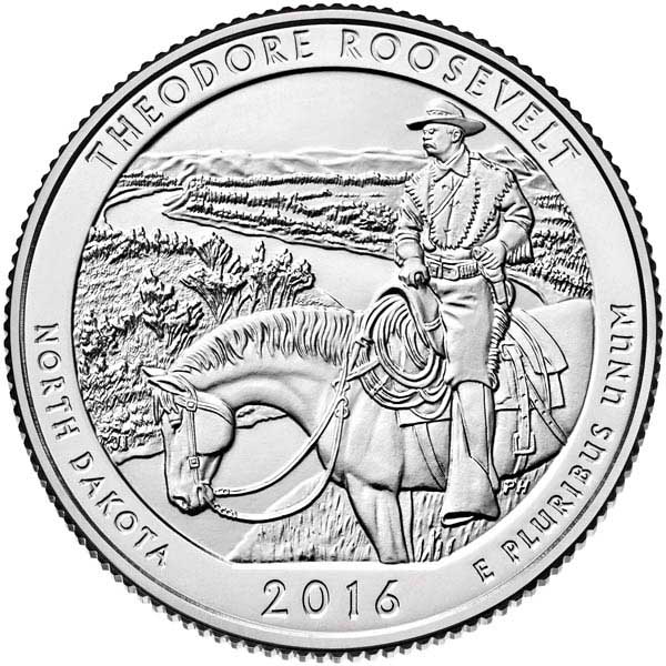 2016 T. Roosevelt National Park P Mint Quarter