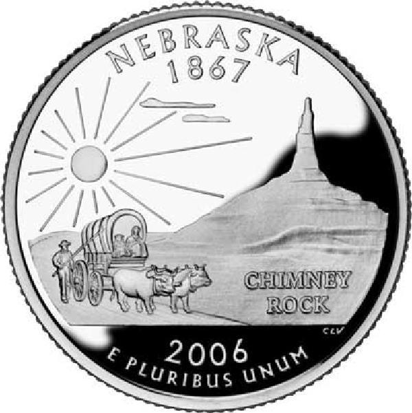 2006 Nebraska State Quarter, P Mint