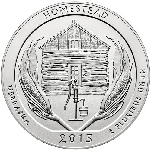 2015 Homestead Natl. Monumnet of America, D Mint Quarter