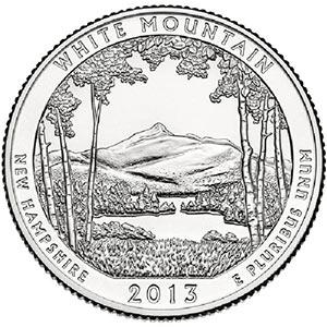 2013 White Mountain National Forest Philadelphia Quarter