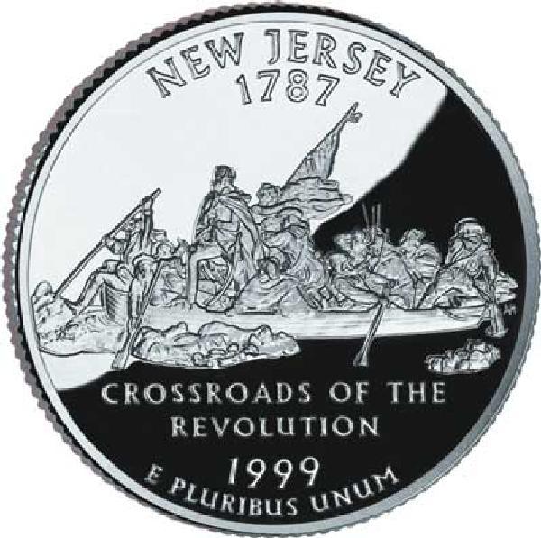 1999 New Jersey State Quarter, D Mint