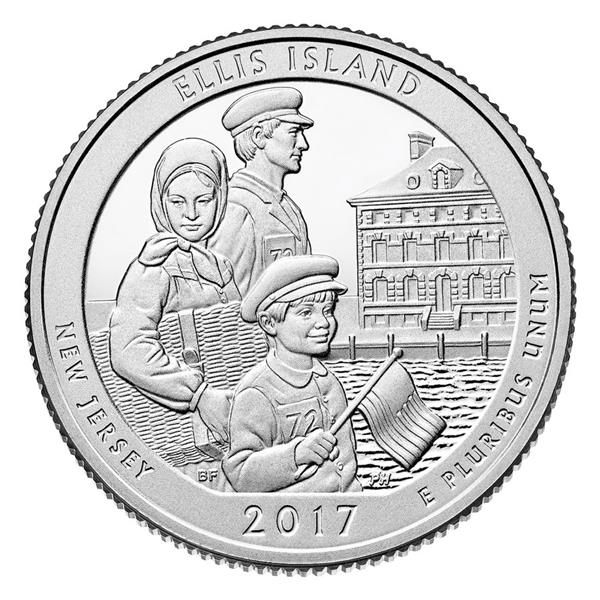 2017 Ellis Island National Monument P Mint