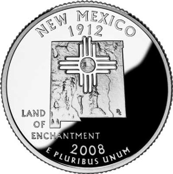 2008 New Mexico State Quarter, P Mint