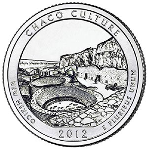 2012 Chaco Culture National Historic Park D Mint Quarter
