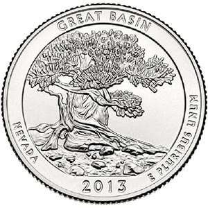 2013 Great Basin National Park P Mint Quarter