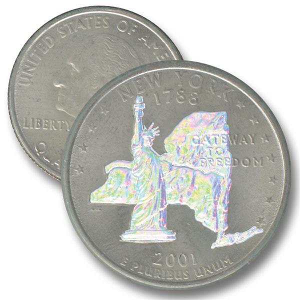 2001 NY St. Quarter - Hologram