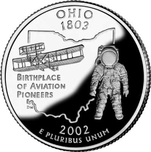 2002 Ohio State Quarter, P Mint