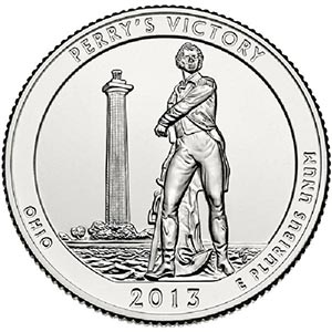 2013 Perry's Victory Internaltional Peace Memorial D Mint Quarter