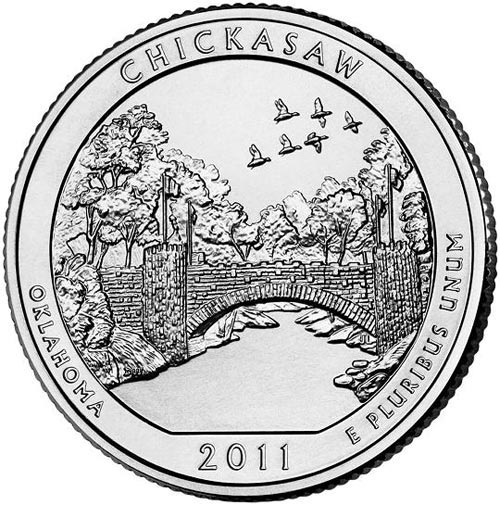 2011 Chickasaw National Park D Mint Quarter