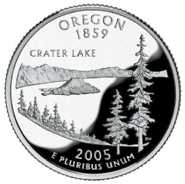 2005 Oregon State Quarter, D Mint