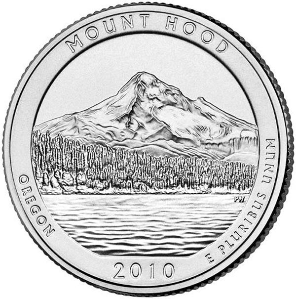 2010 Mt Hood National Forest P Mint Quarter
