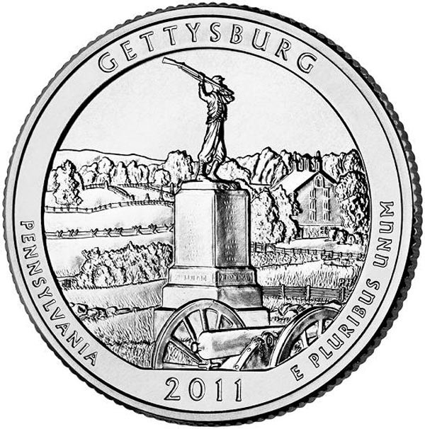 2011 Gettysburg National Military Park, P Mint Quarter