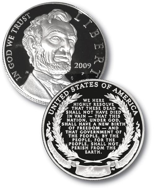 2009 $1.00 Lincoln Proof Coin