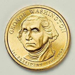 2007 $1.00 President Washington, D Mint