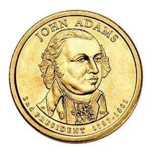 2007 $1.00 President Adams, P Mint