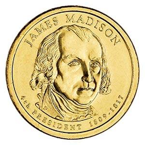 2007 $1.00 President Madison, P Mint