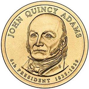 2008 $1.00 President J. Q. Adams D mint