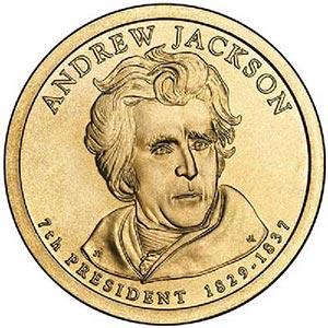 2008 $1.00 President Andrew Jackson D Mi