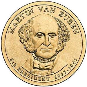 Item #CNPRES08D – 2008 Van Buren Presidential Dollar.