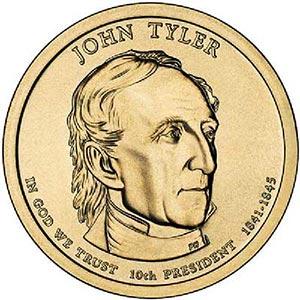 2009 $1.00 President John Tyler, D Mint