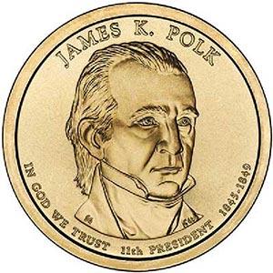 2009 $1.00 President James Polk, D Mint
