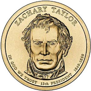 2009 $1.00 President Zachary Taylor, D