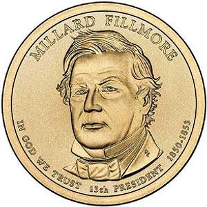 2010 $1.00 President Millard Fillmore, P
