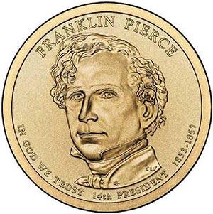 2010 $1.00 President Franklin Pierce, P