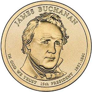 2010 $1.00 President James Buchanan, D