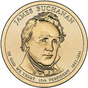 2010 $1.00 President James Buchanan, P