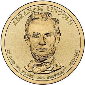 2010 $1.00 President Abraham Lincoln, P