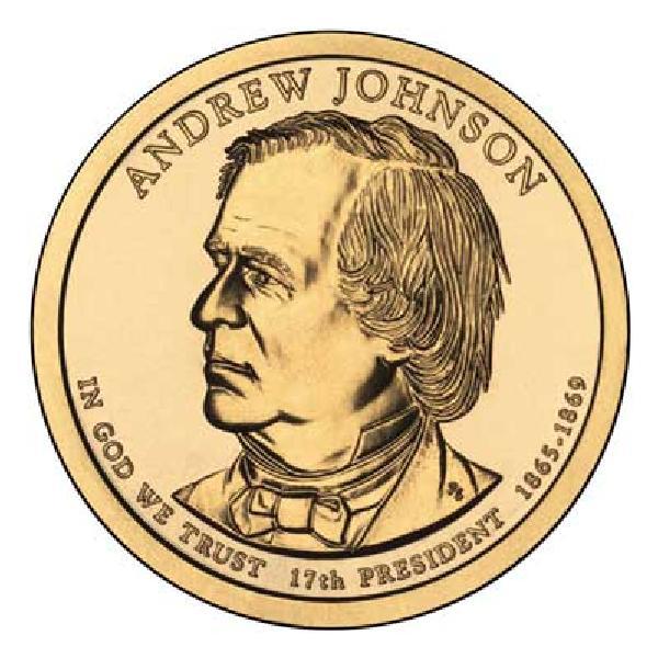 2011 $1.00 President Andrew Johnson, P