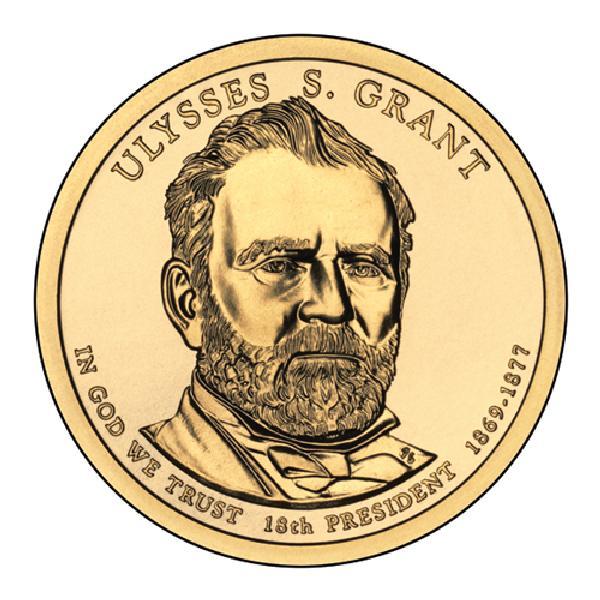 2011 $1.00 President Ulysses Grant, D