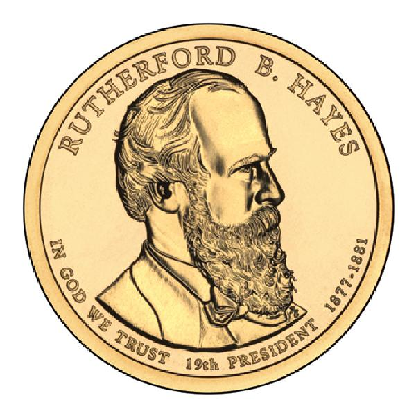 2011 $1.00 President Rutherford B. Hayes