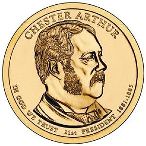 2012 $1.00 President Chester Arthur, P