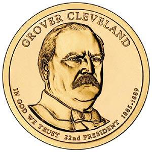 2012 $1.00 President Grover Cleveland P