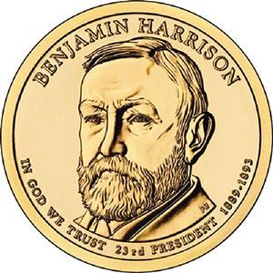 2012 $1.00 President B. Harrison P Mint